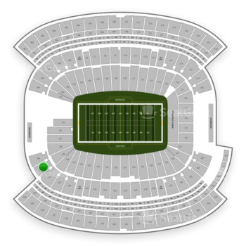 New England Patriots at Gillette Stadium Section 239 View