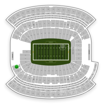 New England Patriots at Gillette Stadium Section 240 View