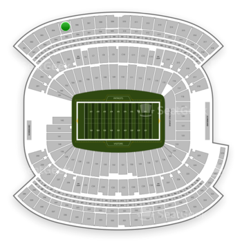 New England Patriots at Gillette Stadium Section 305 View