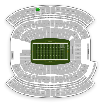 New England Patriots at Gillette Stadium Section 307 View