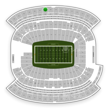 New England Patriots at Gillette Stadium Section 308 View
