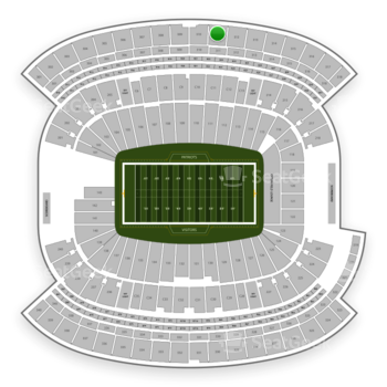New England Patriots at Gillette Stadium Section 311 View