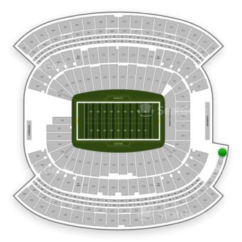New England Patriots at Gillette Stadium Section 319 View