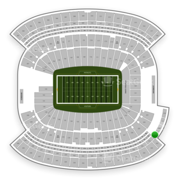 New England Patriots at Gillette Stadium Section 322 View