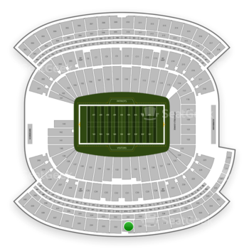 New England Patriots at Gillette Stadium Section 331 View