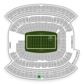 New England Patriots at Gillette Stadium Section 332 View