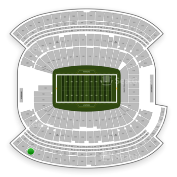 New England Patriots at Gillette Stadium Section 338 View