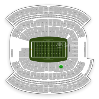 New England Patriots at Gillette Stadium Section 128 View