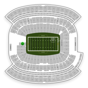 New England Patriots at Gillette Stadium Section 143 View
