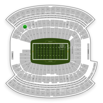New England Patriots at Gillette Stadium Section 204 View