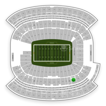 New England Patriots at Gillette Stadium Section 227 View