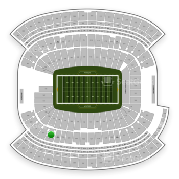 New England Patriots at Gillette Stadium Section 236 View