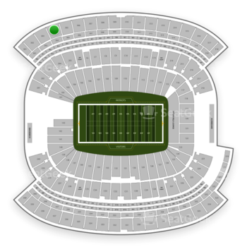 New England Patriots at Gillette Stadium Section 304 View