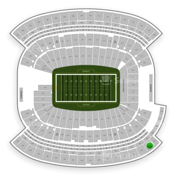 New England Patriots at Gillette Stadium Section 324 View