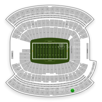 New England Patriots at Gillette Stadium Section 327 View