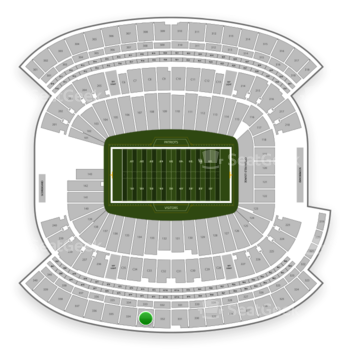 New England Patriots at Gillette Stadium Section 333 View