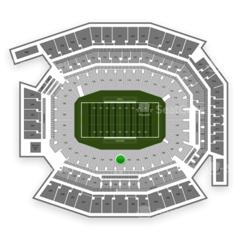 Temple Owls Football at Lincoln Financial Field Section 101 View