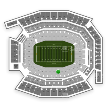 Temple Owls Football at Lincoln Financial Field Section 102 View
