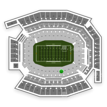 Temple Owls Football at Lincoln Financial Field Section 103 View