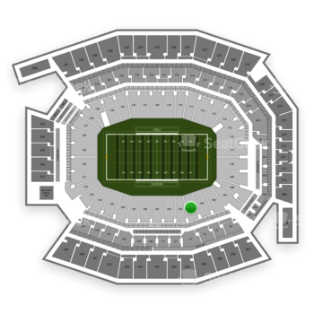 Temple Owls Football at Lincoln Financial Field Section 104 View