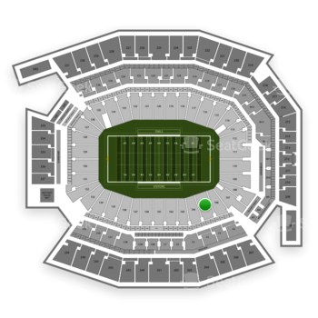 Temple Owls Football at Lincoln Financial Field Section 105 View