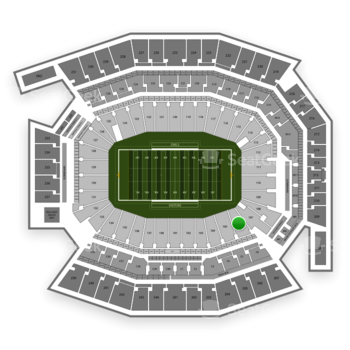 Temple Owls Football at Lincoln Financial Field Section 106 View
