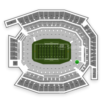 Temple Owls Football at Lincoln Financial Field Section 108 View