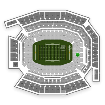 Temple Owls Football at Lincoln Financial Field Section 110 View
