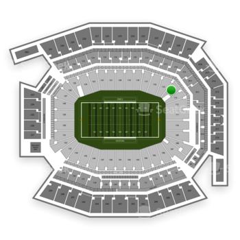Temple Owls Football at Lincoln Financial Field Section 114 View