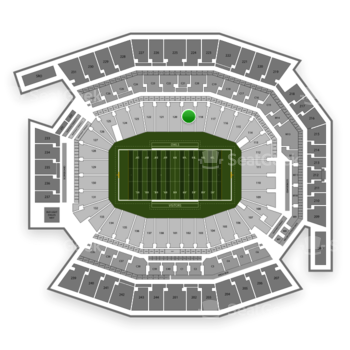 Temple Owls Football at Lincoln Financial Field Section 119 View