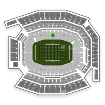 Temple Owls Football at Lincoln Financial Field Section 120 View