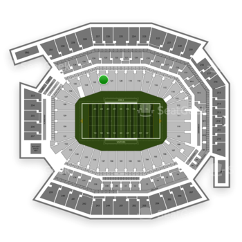 Temple Owls Football at Lincoln Financial Field Section 122 View