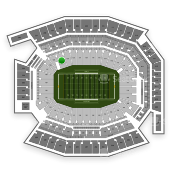 Temple Owls Football at Lincoln Financial Field Section 124 View