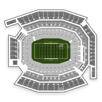 Temple Owls Football at Lincoln Financial Field 127 U View