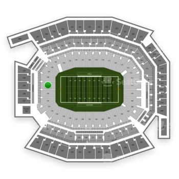 Temple Owls Football at Lincoln Financial Field Section 129 View