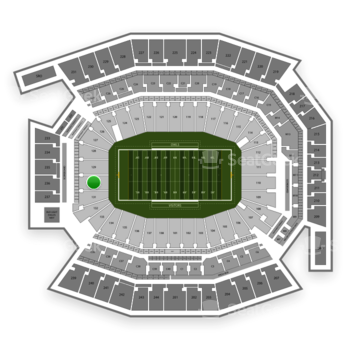 Temple Owls Football at Lincoln Financial Field Section 130 View