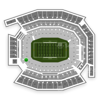 Temple Owls Football at Lincoln Financial Field Section 132 View
