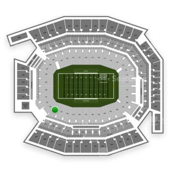 Temple Owls Football at Lincoln Financial Field Section 134 View