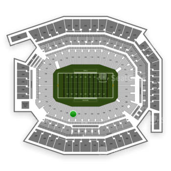 Temple Owls Football at Lincoln Financial Field Section 137 View