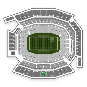 Temple Owls Football at Lincoln Financial Field Section 201 View