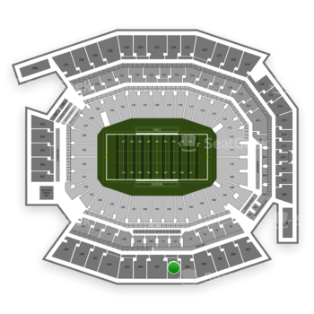 Temple Owls Football at Lincoln Financial Field Section 202 View