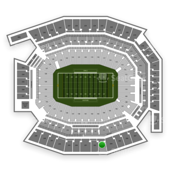 Temple Owls Football at Lincoln Financial Field Section 203 View