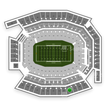 Temple Owls Football at Lincoln Financial Field Section 204 View