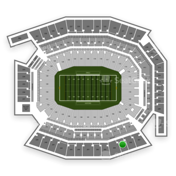 Temple Owls Football at Lincoln Financial Field Section 205 View