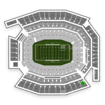 Temple Owls Football at Lincoln Financial Field Section 207 View