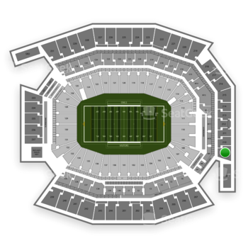Temple Owls Football at Lincoln Financial Field Section 209 View