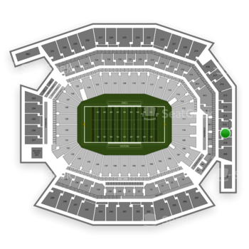 Temple Owls Football at Lincoln Financial Field Section 211 View