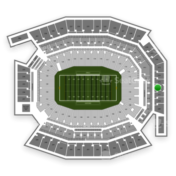Temple Owls Football at Lincoln Financial Field Section 212 View
