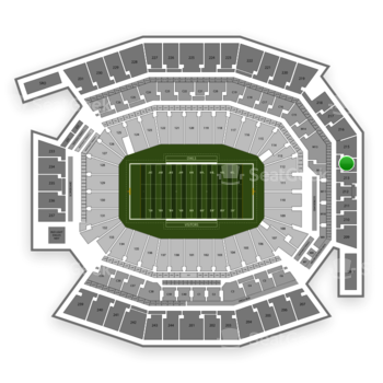 Temple Owls Football at Lincoln Financial Field Section 214 View