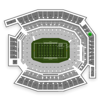 Temple Owls Football at Lincoln Financial Field Section 216 View